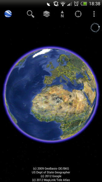 google earth android