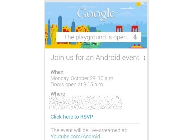 conférence google 29 octobre 2012 android