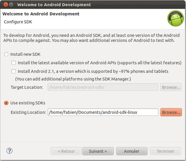 Intégration du SDK android dans Eclipse | Android-dev fr