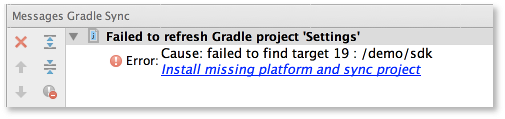 telechargement SDK gradle