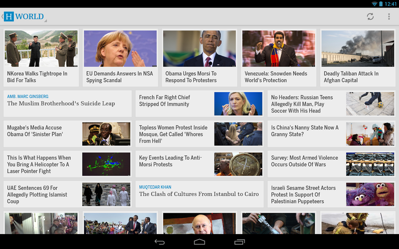huffington post android tablette
