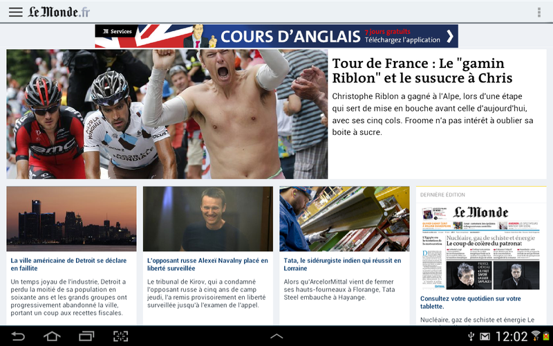 le monde android tablette
