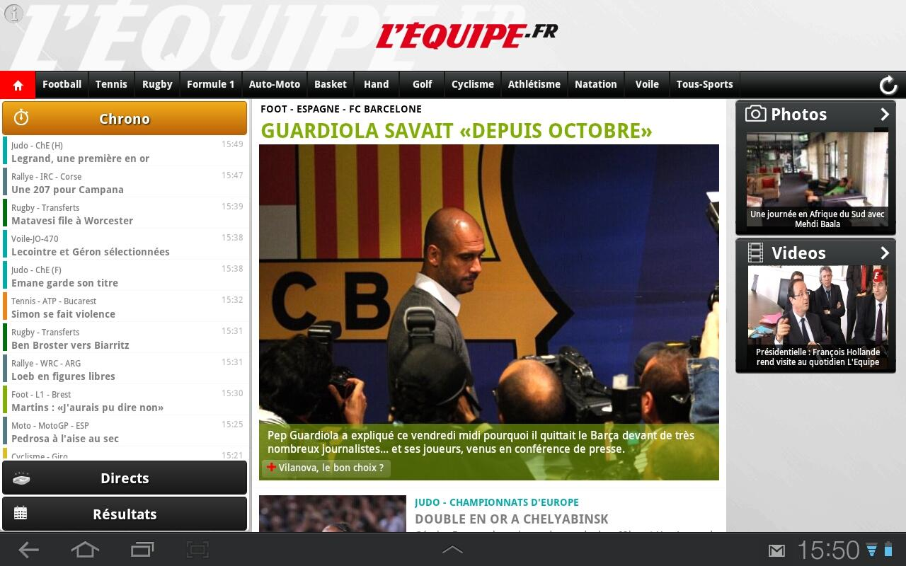 lequipe android tablette
