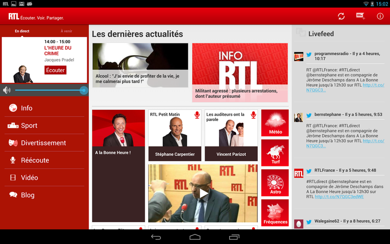 rtl android tablette