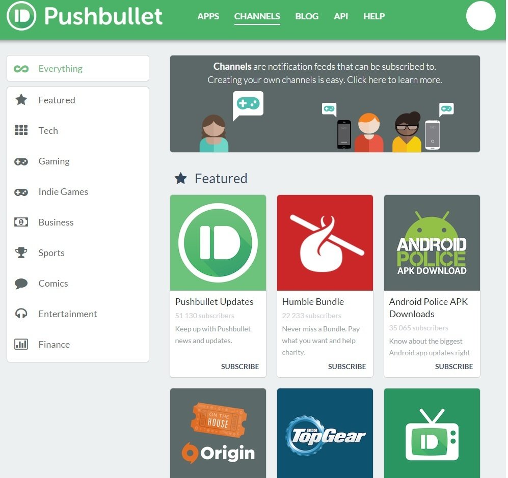 channel pushbullet