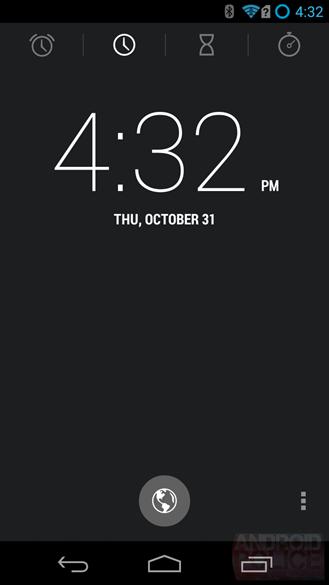 android 4.4 horloge
