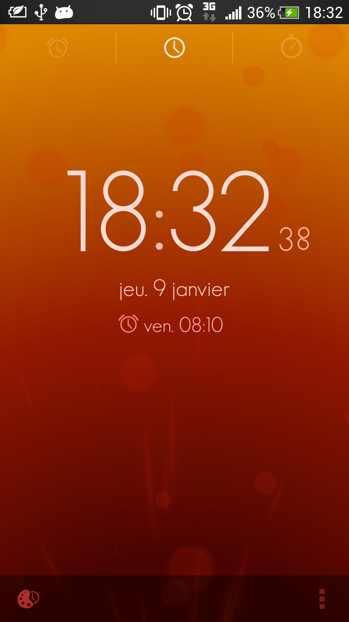 timely android horloge