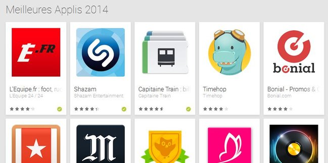 meilleur application android 2014