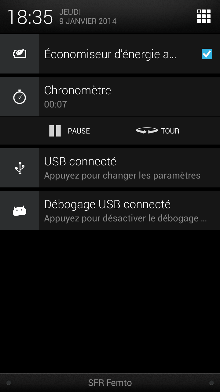 notification chronometre timely