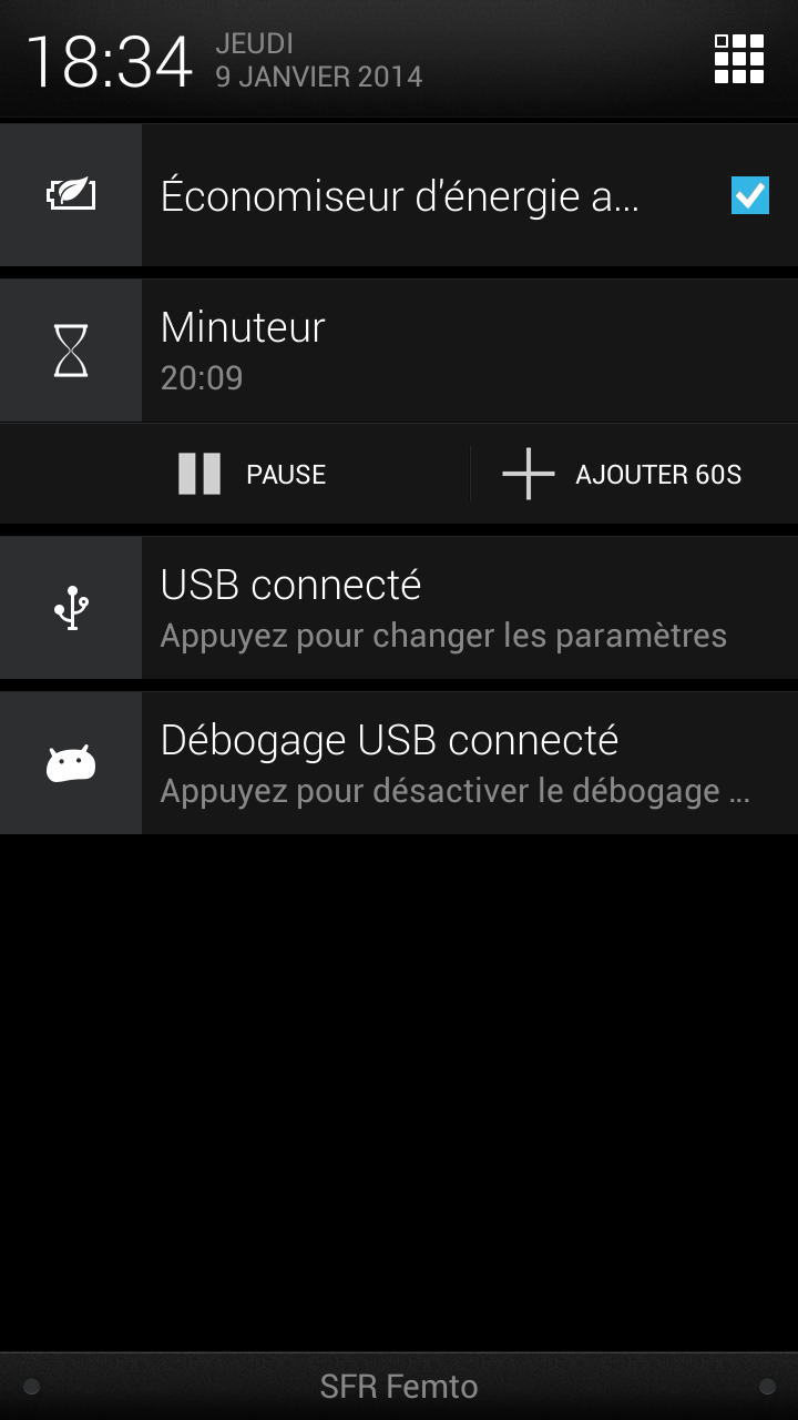 notification minuteur android