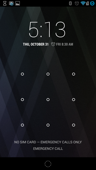screen lock android 4.4 horloge
