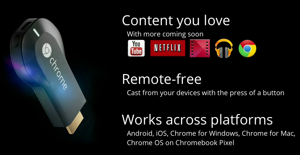 Le catalogue d'application de la Chromecast s'enrichit