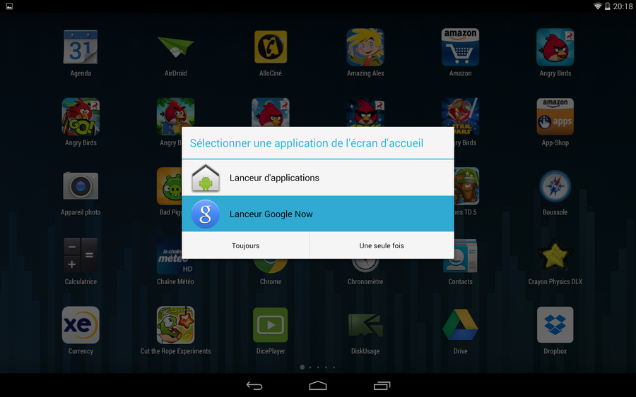 android choix launcher