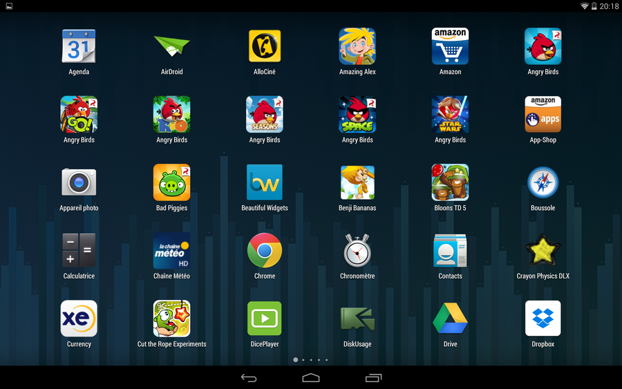 google now launcher liste application