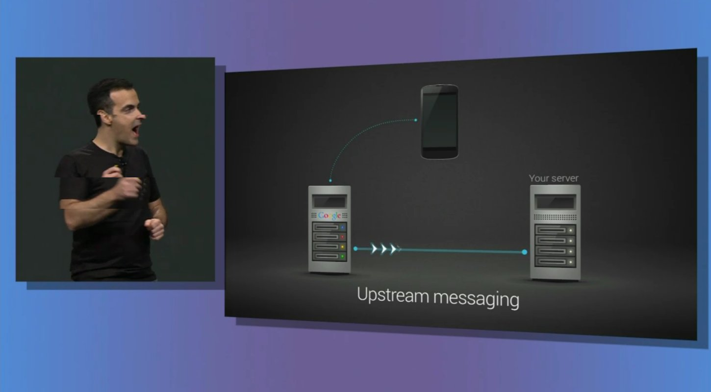 google cloud messaging upstream