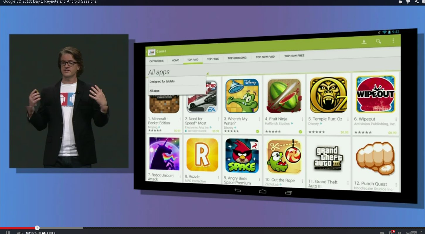 google play tablette