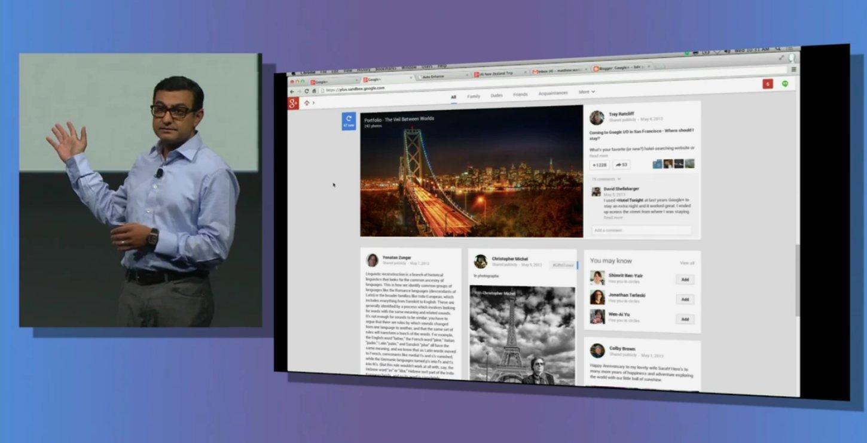 nouveau google+ web