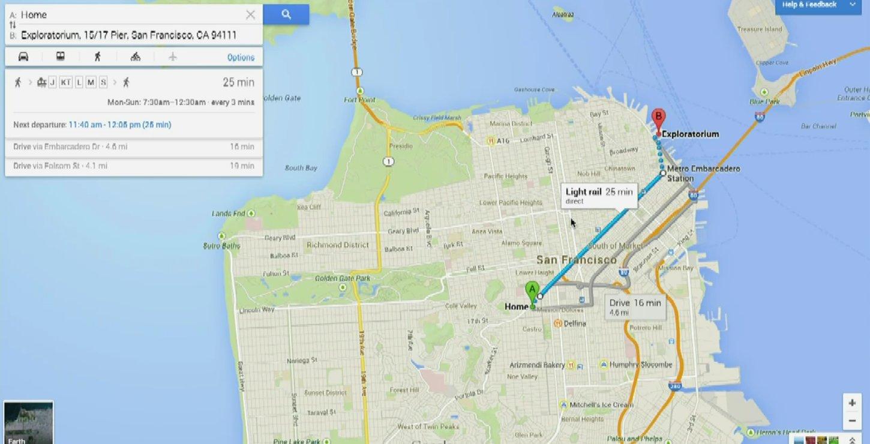 google maps web itineraire