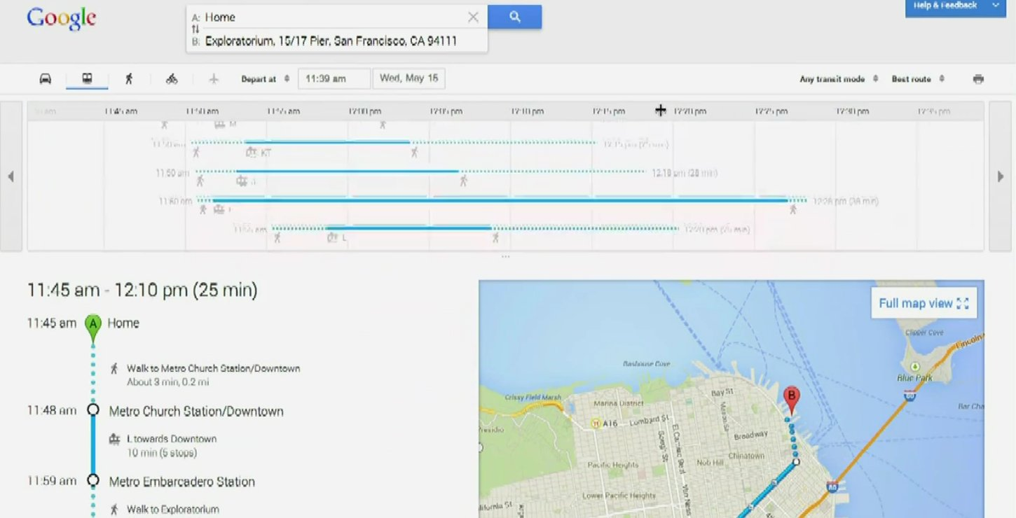 google maps web itineraire transport ne commun