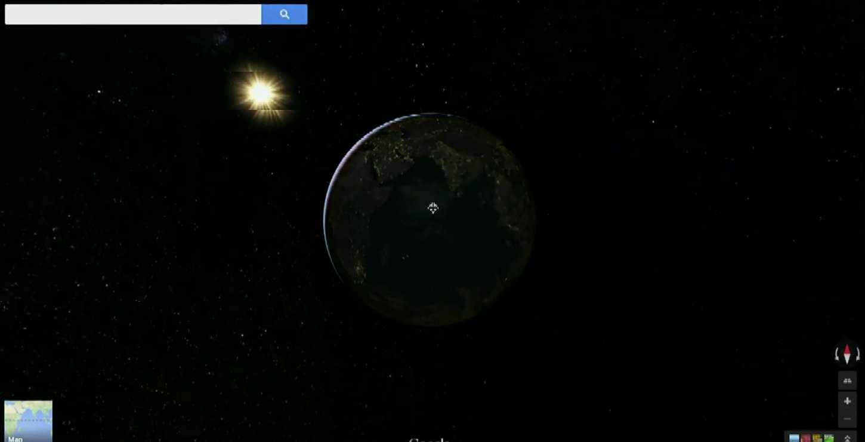 google maps planete
