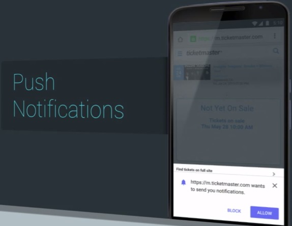 push notification chrome