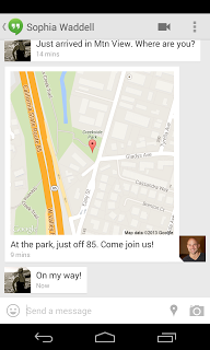 hangouts localisation