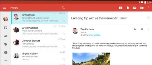 L'APK de Gmail en version 5.0 disponible