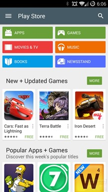 play store accueil