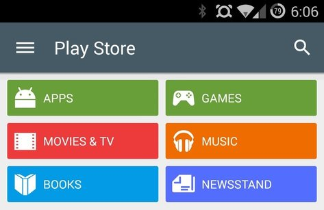 L'application Play Store en version 5 en approche